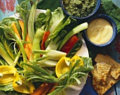 Fresh Vegetable Platter with Dips