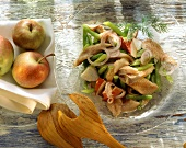 Maties salad with green beans and apples