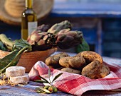 Still Life with Potatoes and Artichokes