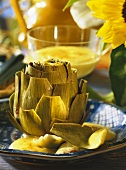 Artichoke with Hollandaise Sauce