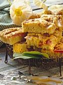 Aniseed and rhubarb cake