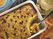 Polenta and pumpkin bake