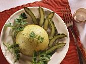Green asparagus flan