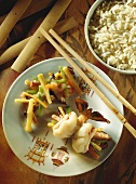 Shrimp rolls with bamboo sprouts