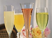 French drinks: French 75, Ritz, Kir Royal, Melodie