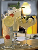 Drinks: Tom Collins, Sake Shake, Cobbler a la Saison