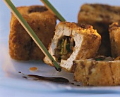 Asian Vegetables Wrapped in Fried Tofu