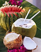 Fruit drinks: Cocomero, Champaya  Ernests Caribbean