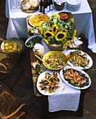 Italienisches Gartenfest-Buffet
