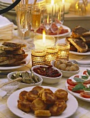 Party Buffet by Candlelight