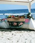 Caribbean buffet on beach