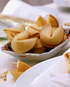 Several Asian fortune cookies