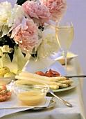 White Asparagus with Hollandaise Sauce