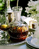 Sherry in a Decanter with Glasses