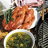 Lobster and Herb Oil at Barbecue