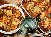 Hungarian fish stew & coley with tomato sauce