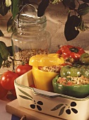 Stuffed Bell Peppers in Casserole Dish