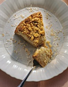 Apple rice tart with crumble and grated coconut