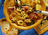 Bouillabaisse - fish soup with seafood & vegetables