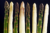 Green and White Asparagus Spears