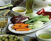 Pinzimonio (Raw vegetables with dipping sauce) Tuscany, Italy