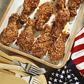American crispy chicken legs with sesame