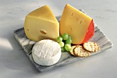 Cheese Still Life on a Cutting Board
