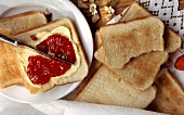 Toast with Jam and Butter