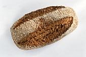 A dark mixed-grain loaf