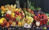 Fruits and Vegetables with Juices