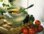 A Crock of Tomato Soup