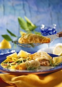 Rolled Crepes with Salmon Stuffing