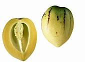 A Whole and a Half of a Pepino Melon