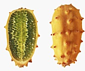 One Whole Kiwano; Half a Kiwano