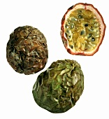 Passion Fruits; One Cut in Half
