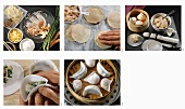 Dim sum: making pastry parcels with various fillings