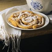 Strauben (coiled doughnuts), S. Tyrol, Italy