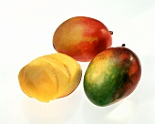 Three Mangoes; One Sliced