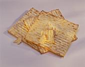 A few matzo bread wafers (unleavened Jewish flat bread)