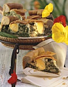 Torta pasqualina (spinach pie with eggs), Liguria, Italy