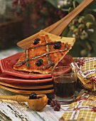 Pissaladiere (onion pizza) with anchovies and olives