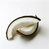 Two slices of coconut