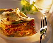 Lasagne vegetariane (vegetable lasagne), Emilia-Romagna, Italy