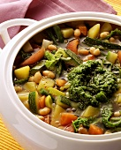 Minestrone al pesto (Vegetable soup with pesto, Italy)