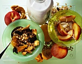Muesli with dried fruits & quinoa muesli with peach, almonds