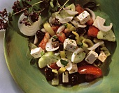 Greek Salad with Marinated Vegetables and Feta