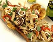 Tortiglioni con le seppie (Pasta with cuttlefish)