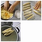 Making potato noodles