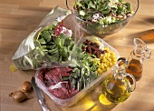 Mixed Salads in Plastic