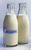 Two bottles of cream
